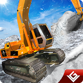 Winter Snow Truck Excavator 3D