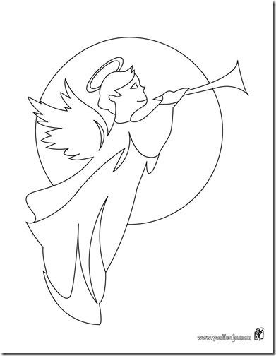 angeles navidad colorear  (10)