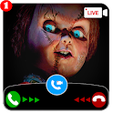 creepy scary doll video call and chat simulator icon