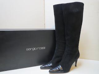 Sergio Rossi Suede Calf Boots