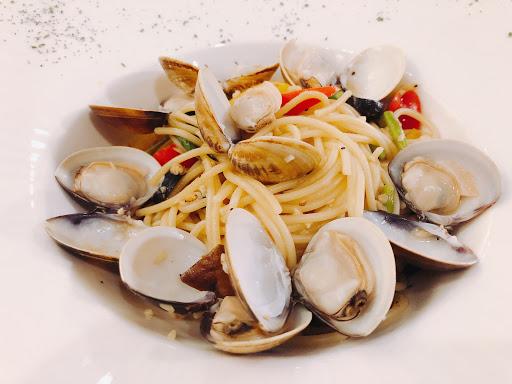 清炒蛤蜊義大利麵👍👍👍