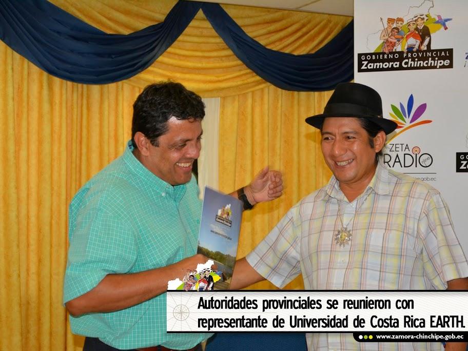 AUTORIDADES PROVINCIALES SE REUNIERON CON REPRESENTANTE DE UNIVERSIDAD DE COSTA RICA EARTH.
