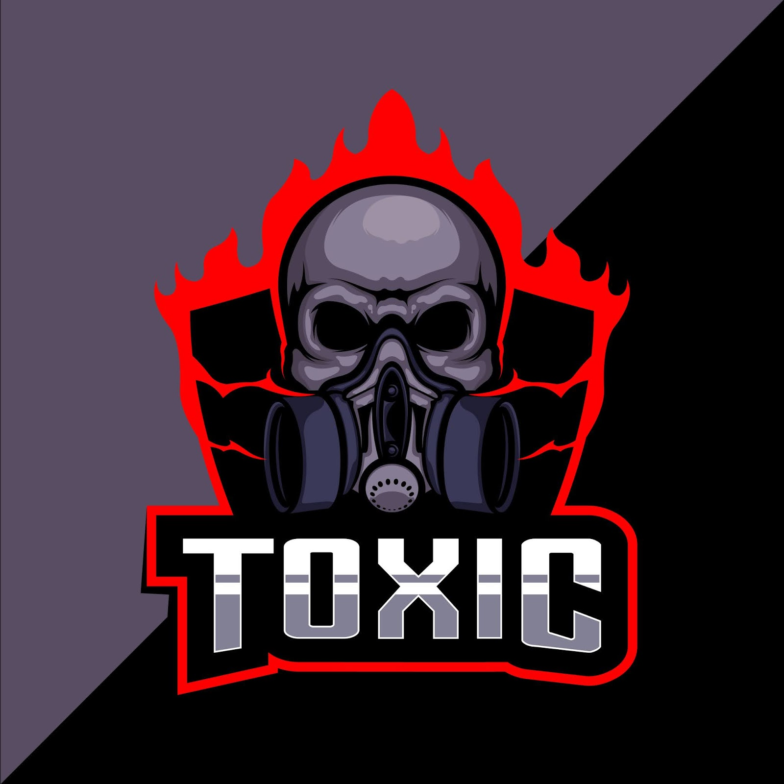 Toxic Skull Esport Logo Design Free Download Vector CDR, AI, EPS and PNG Formats