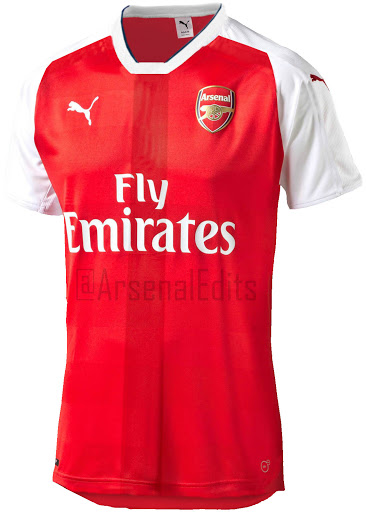 """The new home kit will come in iconic """"high risk red"""" colour with  combination of white colour used across the shirt. The shorts for new  Arsenal kit will be ... a72576312"""