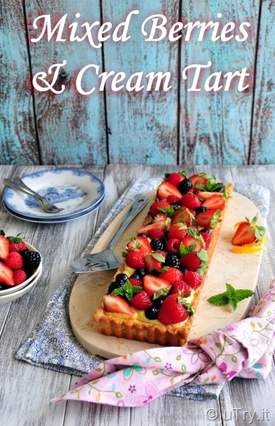 How to Make Mixed Berries and Cream Tart 雜莓奶油撻  http://uTry.it
