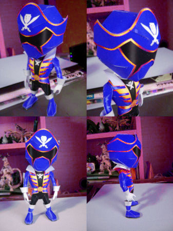 Tokumei Sentai Go Busters - Blue Buster Papercraft ...