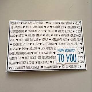 selbst gebastelte Karte, nicht so kitschige Geburtstagskarte, Glückwunschkarte für Männer