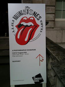 Rolling Stones exhibition sign