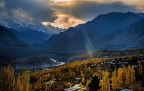 An overcast autumn evening of Hunza.