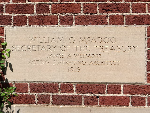 Eureka Springs post office cornerstone