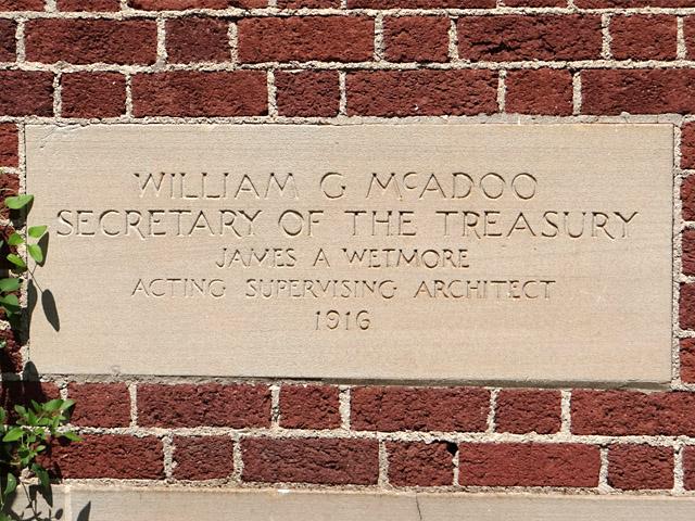 Eureka Springs post office cornerstone
