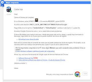 google chrome problema youtube