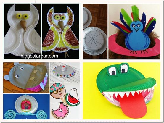 animales hechos con platos (4)