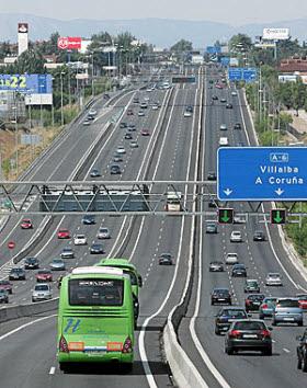 carril Bus VAO de la autopista A-6
