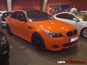 BMW 5Series Wrapped in Orange