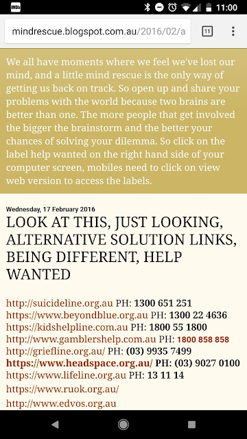 http://mindrescue.blogspot.com.au/search/label/ALTERNATIVE%20SOLUTIONS
