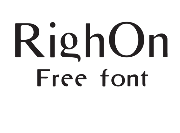 RighOn Free Fonts