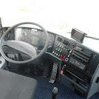Het dashboard van de Vanhool van South West Tours bus 54 ( nu van MM Travel )