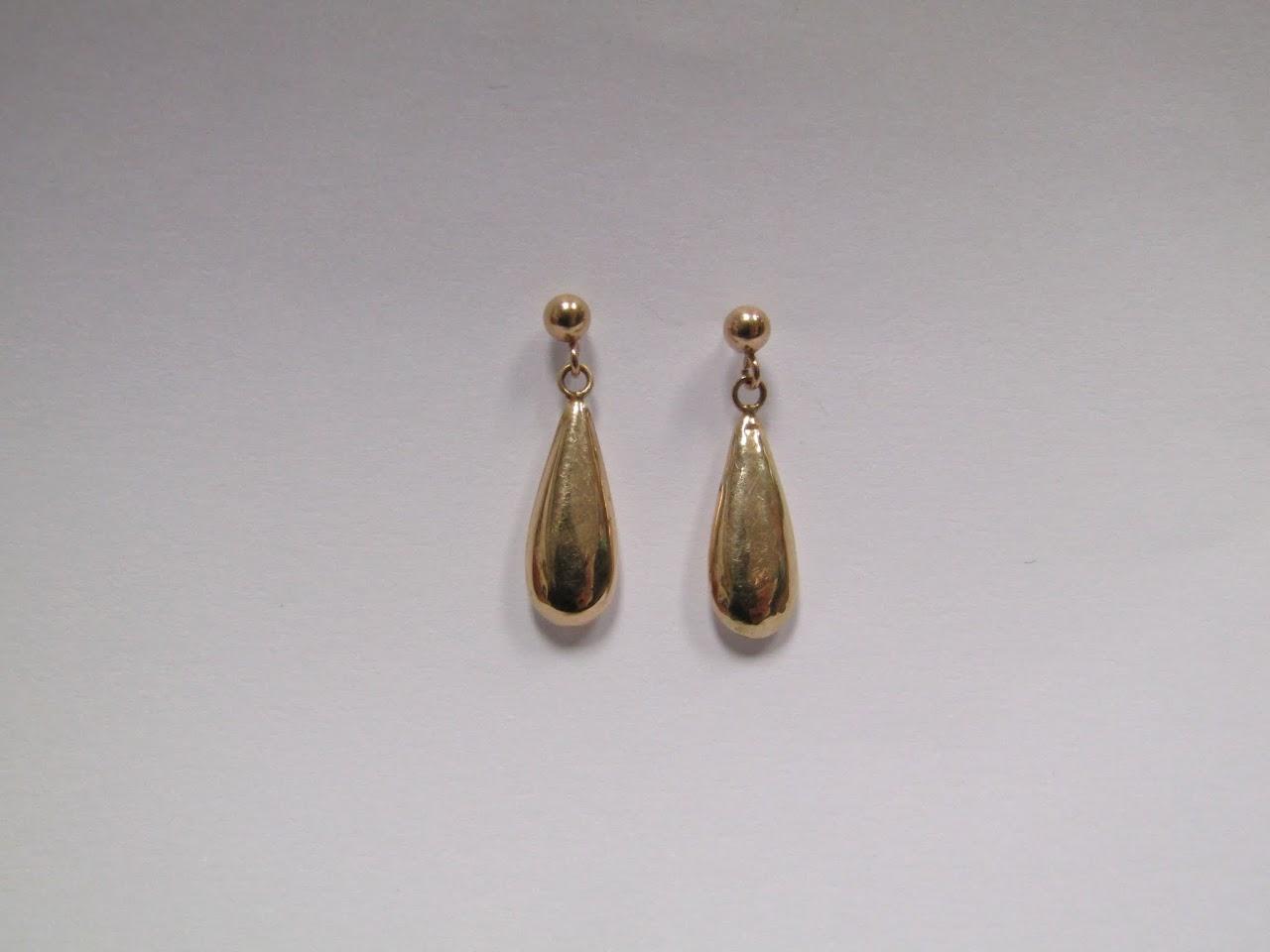 14 K Tear Drop Earrings
