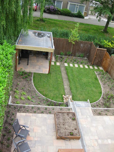 Tuin met hoogteverschillen