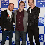 WWW.ENTSIMAGES.COM -  Great British Bake Off (Paul A Young, Edd Kimber and John Whaite)    at   Terrence Higgins Trust's 'The Supper Club' after-party at Underglobe, Bankside London October 8th 2014This year's Supper Club in aid of  HIV and sexual health charity Terrence Higgins Trust. The Supper Club' is an annual foodie event where celebrities and Terrence Higgins Trust supporters invite their friends to dine with them at 50 of London's most iconic restaurants. On the night guests will be treated to an exquisite dinner, before being whisked away to a star-studded after-party, featuring cocktails, superb entertainment by British singer- song writer Chloe Howl, and dancing at the Underglobe.                                                Photo Mobis Photos/OIC 0203 174 1069