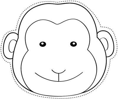 MONO mascara de animales  para colorar (10)_thumb