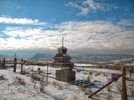 Pamtingpa's high desert stupa in January 2014
