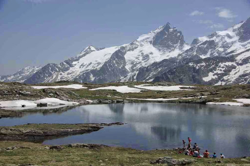 La lac Noir et la Meije
