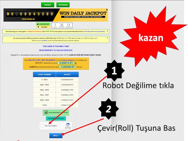 Ücretsiz Bitcoin Kazan