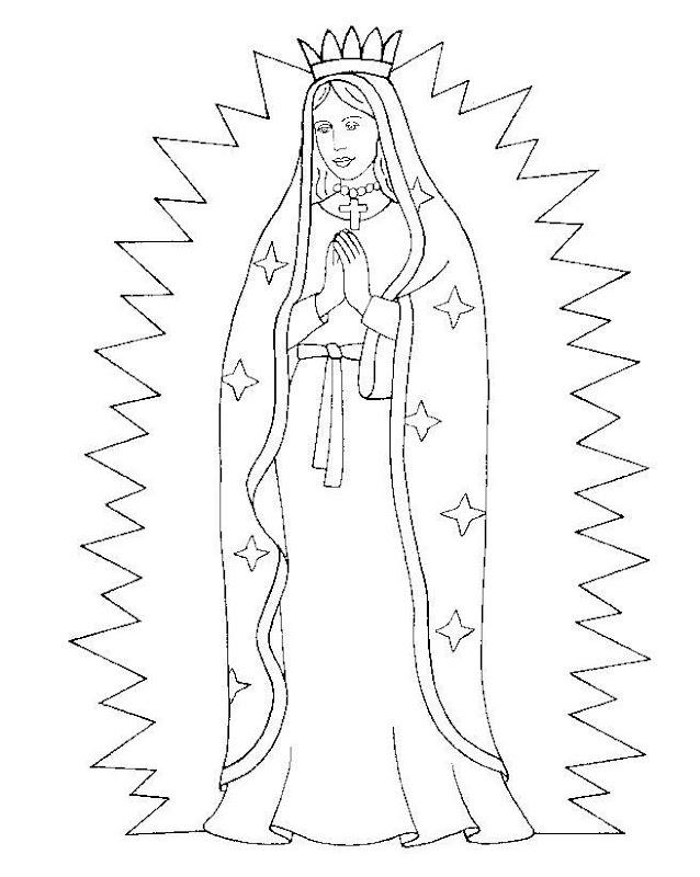 Virgencita de Guadalupe para colorear