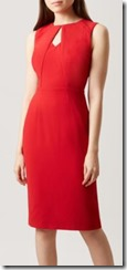 Hobbs Red Shift Dress