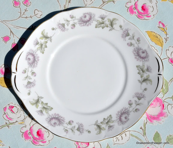 Duchess pale lavender vintage cake plate