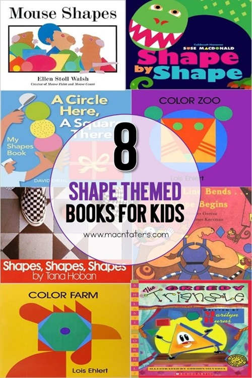 These 8 books about shapes are sure to please even the littlest readers. These shape themed books are great for toddlers, preschoolers, and school aged children and are great to accompany your shape themed learning activities.