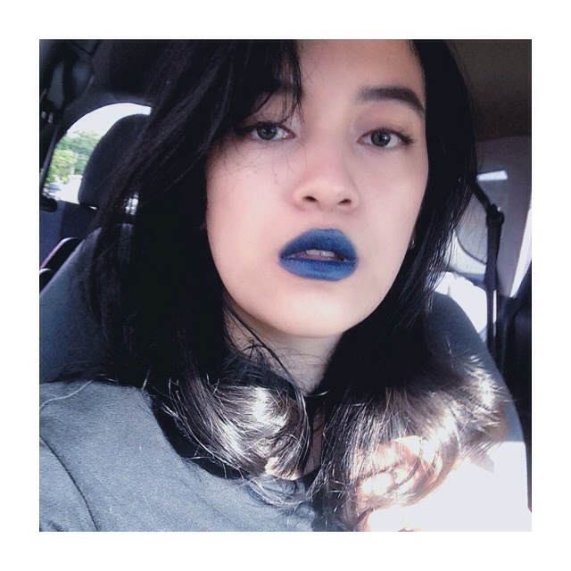 Wearing The Blue Valentine, Seriously I Can Rock This Lipstick Color And  Wear It Everyday And Go Out, But My Mom Wonu0027t Even Look At Me While Wearing  This ...