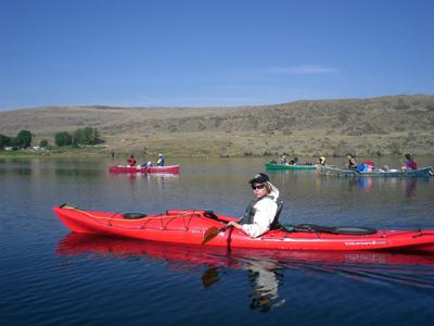 Ben gets his turn in the kayak
