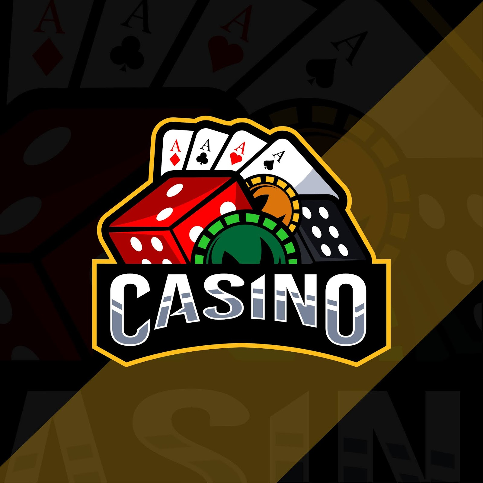 Casino Mascot Logo Esport Template Free Download Vector CDR, AI, EPS and PNG Formats
