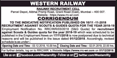Western Railway Scouts and Guides Quota 2018 www.indgovtjobs.in