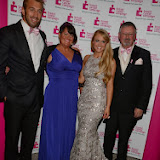 WWW.ENTSIMAGES.COM -  Camilla Kerslake with mum and dad and Chris Robshaw     at    Breast Cancer Campaign's Pink Ribbon Ball at The Dorchester, 55 Park Lane, London October 12th 2013                                                    Photo Mobis Photos/OIC 0203 174 1069