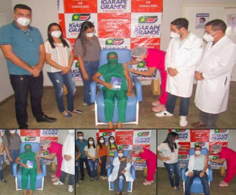 Igarapé Grande recebe as primeiras doses da vacina contra a covid-19