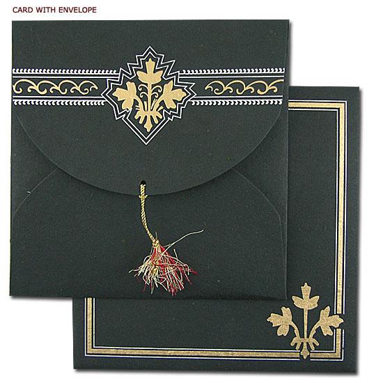 Invitación negro con dorado
