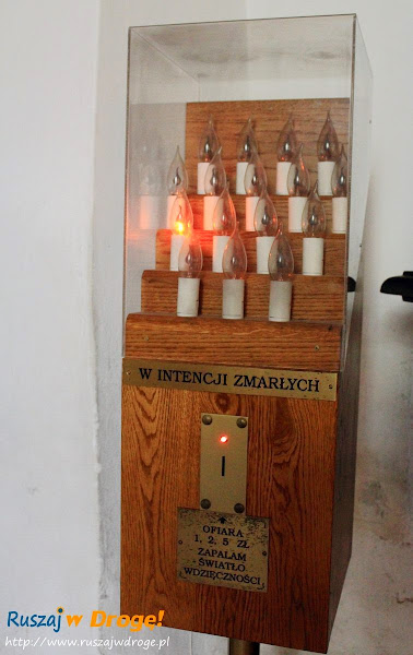 Klasztor Święty Krzyż - elektroniczne świeczki za zmarłych