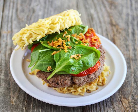 close-up photo of Ramen Burger