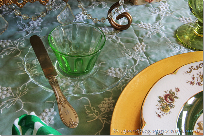 Tablescape for St. Patrick's Day
