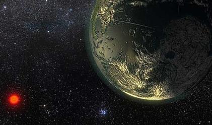 ilustração de uma super-Terra