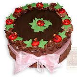 1. kép: Karácsonyi torták - Csokitorta katicával díszítve