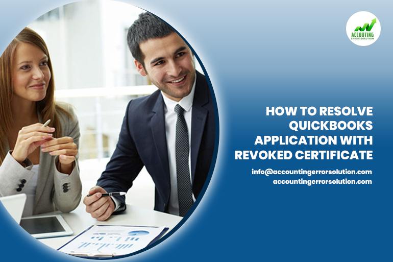 QuickBooks application with revoked certification