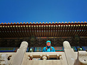 Photo: Colourful buildings, this time at the Forbidden City.  Sarah was interrupted twice by locals wanting photos with the foreigner while trying to take this shot.