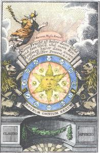 Engraving From Drey Curieuse Chymische Tractatlein 1774, Alchemical And Hermetic Emblems 1