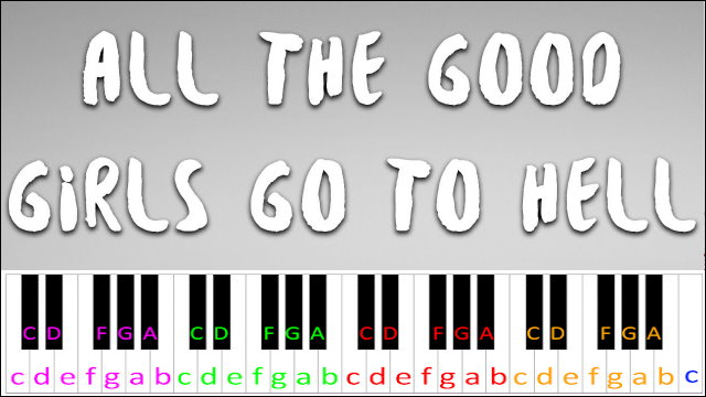 Billie Eilish Roblox Id All The Good Girls Go To Hell All The Good Girls Go To Hell By Billie Eilish Piano Letter Notes