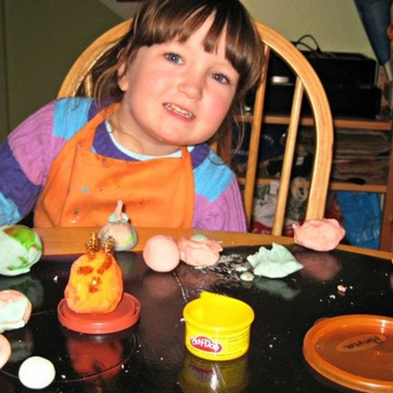 Hands On Solar System in Playdough